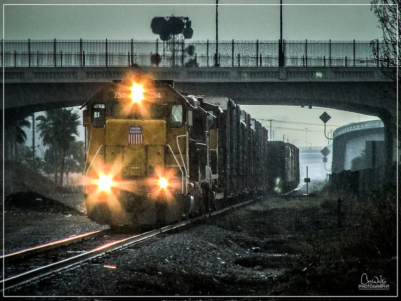 UP 754 building the HB Local - Anaheim, CA
