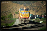 UP 3961 westbound at El Casco - San Timeteo Canyon - June 2005